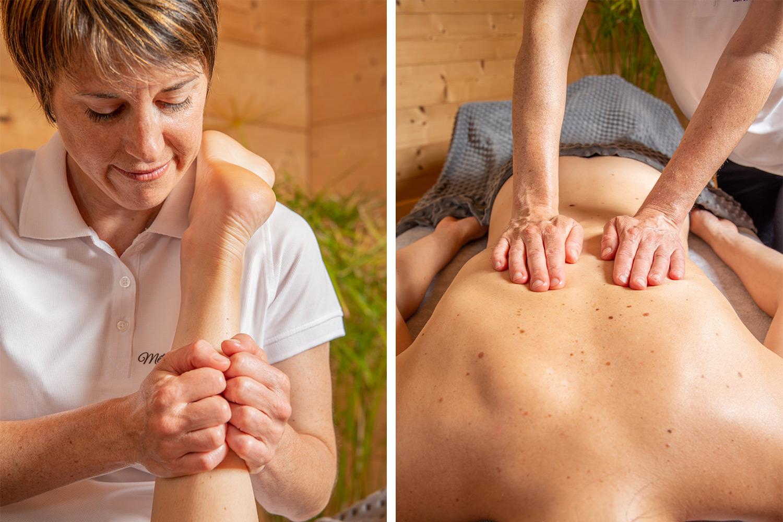 Massage du dos et des articulations : massage relaxant. Détente et apaisement